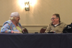 Mary Margaret Moore from ILCNSCA and Paul Spooner, MWCIL