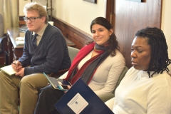 Kay from MWCIL with Rep. Sannicandro's staff