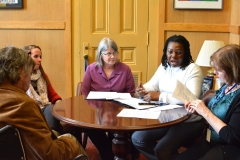 Steve, Jessica, Pat and Kay with Mary Anne Padien at Senator Karen Spilka's office