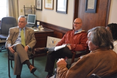MWCIL staff speaks with Reps. Walsh and Sannicandro