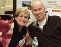 Joan Morris of Easter Seals with Jim, an Assistive Technology user