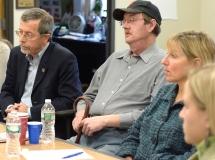 Kirk Joslin, president of Easter Seals MA, Steve, a consumer at MWCIL and State Senator Karen Spilka
