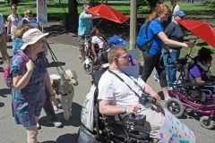 several marchers in wheelchairs