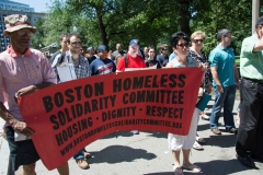 banner: Boston Homeless solidarity committee - housing, dignity, respect