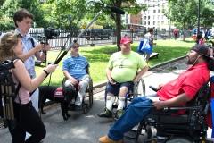 Tyler interviews three men
