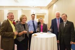 Bill Allan, Mary Lou Maloney (left), Kirk Joslin (right)