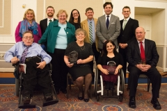 All of the award winners with Paul Spooner and Senator Spilka