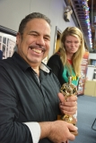 """David wins """"Best decorated office of the holiday season"""" award. Ashley does not win."""