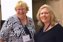 Mary Margaret Moore, ED of Independent Living Center of the North Shore and Cape Ann and Lisa Pitta, ED SECIL