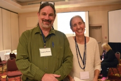 Justin Brown, Northeast Recovery Learning Center, and Ruthie Poole, Transformation Center
