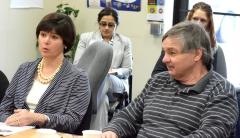 Representative Carolyn Dykema, and Steve from MWCIL
