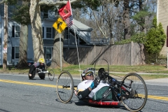 Handcycle and wheelchair racers