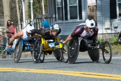 Kurt Fearnley from AUS - 1:24:06, Marcel Hug from SUI - 1:24:06, Ernst Van Dyk from RSA 1:24:06