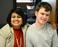 Puja Mehta (Senator Spilka's staff) with Tyler Terrazi (MWRTA)
