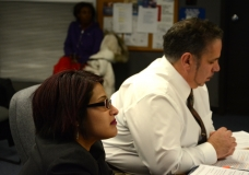 Puja Mehta - staff for Senator Spilka, and David Correia - MWCIL