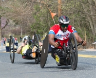 Men's handcycle: Front: Alfredo De Los Santos, 2nd place, NY