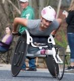 Women's Wheelchair Winner Manuela Schar, 1:28:17, Switzerland
