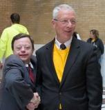 Mike Moloney, CEO of HMEA (right)