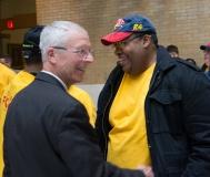 Mike Moloney, CEO of HMEA (left)