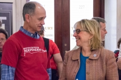 Bill Henning (BCIL) and Senator Karen Spilka