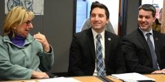 Senator Karen Spilka, Rep. Jack Lewis and Paul Madeiros (President Easter Seals MA)