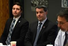 Representative Jack Lewis, Paul Madeiros (President Easter Seals MA) and Josh (Easter Seals MA)
