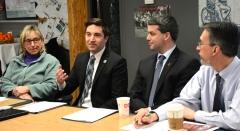 Senator Karen Spilka, Rep. Jack Lewis, Paul Madeiros (President Easter Seals MA) and Josh (Easter Seals MA)