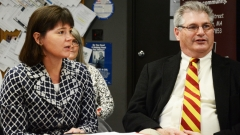 Rep. Carolyn Dykema and Rep. David Linsky