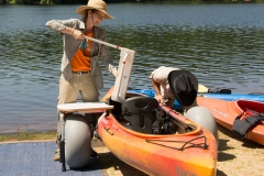 DCR Staff sets up a kayak