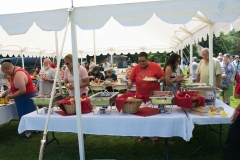 Food tent gets busy