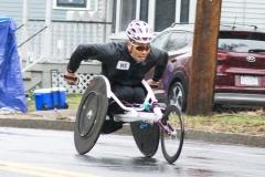 Ryota Yoshida racing in wheelchair. He finished 9th.