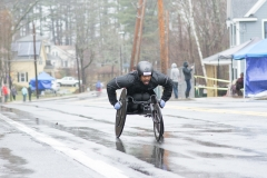 wheelchair racer coming up the hill