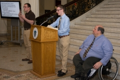 Joe Bellil with Easter Seals youths