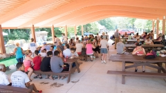 Lunch under the new pavilion