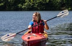 Mikaela kayaking