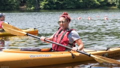 Kayla kayaking
