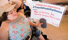 Desi Forte with the Teach Disability History Campaign