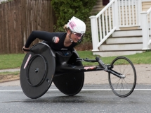Manuela Schar (W102) from Switzerland 1:34:19 - 1st place women's wheelchair racer