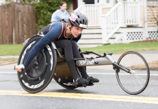 Katrina Gerhard (W111) from Illinois 1:43:53. 6th place Women's Wheelchairs