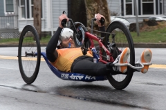 Hand cyclist - no visible number