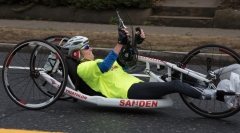 Woman hand cyclist no visible number