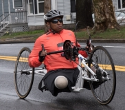 Hand cyclist  no visible number