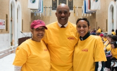 Michael Weekes, Pres. Provider's Council with wife and daughter