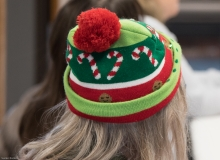Festive holiday knit cap (on Pat - MWCIL)