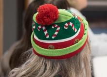 Festive holiday knit cap (on Pat - MWCIL)