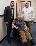 Representative Jack Lewis, Ed Carr (MWRTA and MWCIL BOD) and Paul Spooner (ED MWCIL)