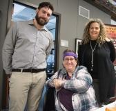 Keegan (Housing), Elizabeth (MWCIL) and Christine