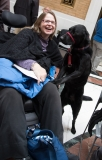 Woman with guide dog