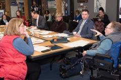 Paul Spooner (MWCIL) speaks to group