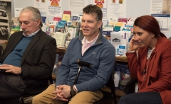 Dennis Giombetti (Framingham), Lou (MWCIL) and Kyla (MWCIL)